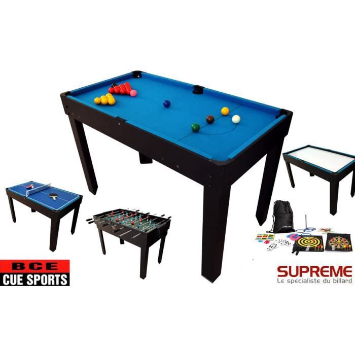billard multi jeux 21 en 1 noire achat vente table multi jeux cdiscount. Black Bedroom Furniture Sets. Home Design Ideas
