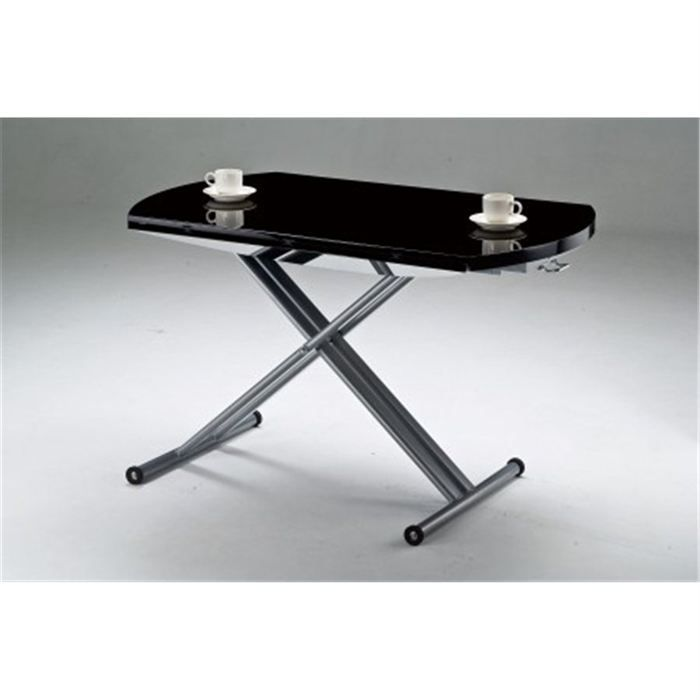 Table relevable ronde celia noir achat vente table manger table relevab - Table relevable ronde ...