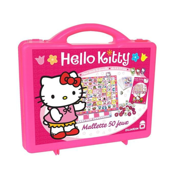 hello kitty mallette 50 jeux jeux de soci t achat vente mallette multi jeux cdiscount. Black Bedroom Furniture Sets. Home Design Ideas
