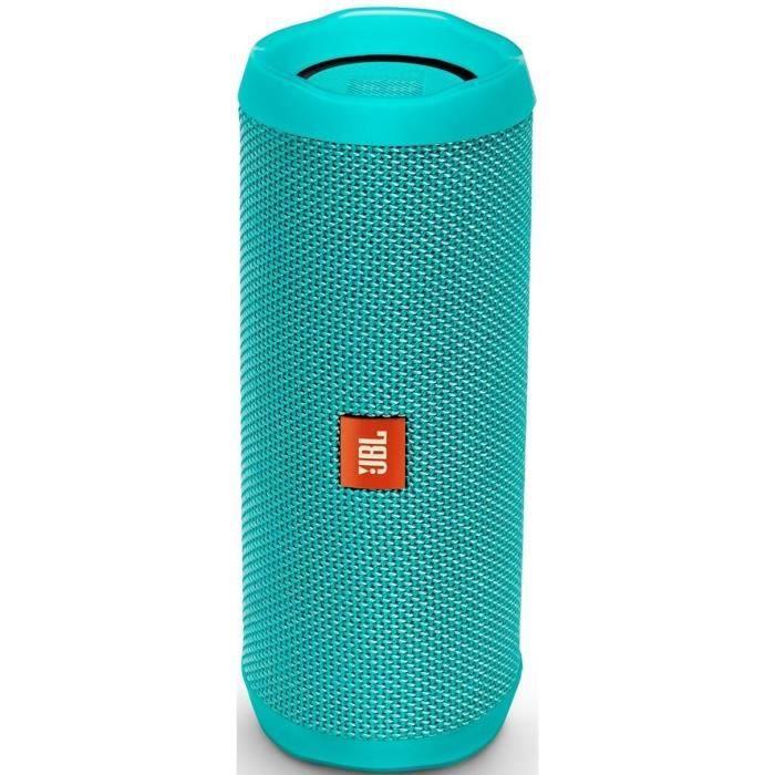 ENCEINTE NOMADE JBL Flip 4 turquoise enceinte bluetooth portable W