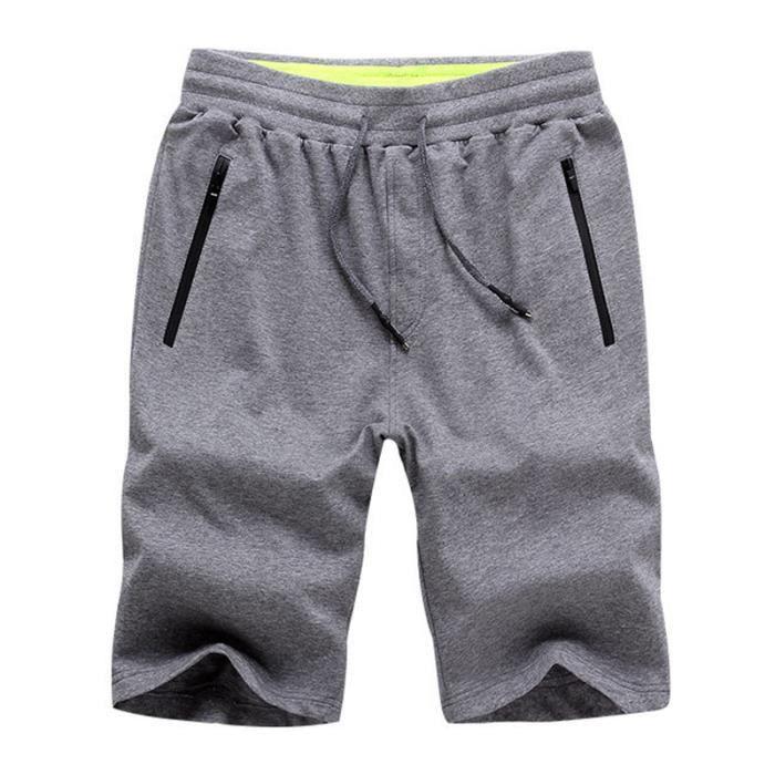 Short coton Homme baggy XXL XS Grisfonce