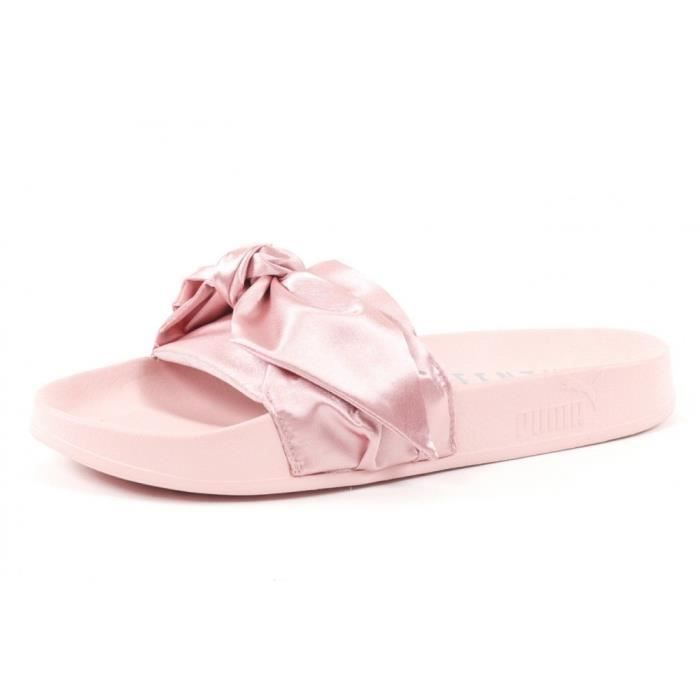 e87bd58ee56 Claquettes PUMA Fenty Bow Slide Women Pink Rose Rose - Achat   Vente ...