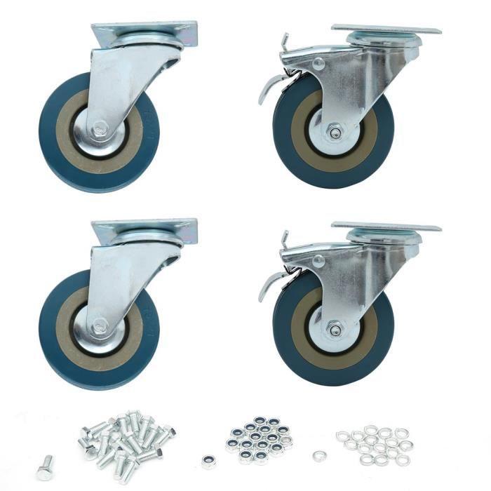 ROUE - ROULETTE 4 PCS ROUE Roulette pivotante 360KG Capacité de ch