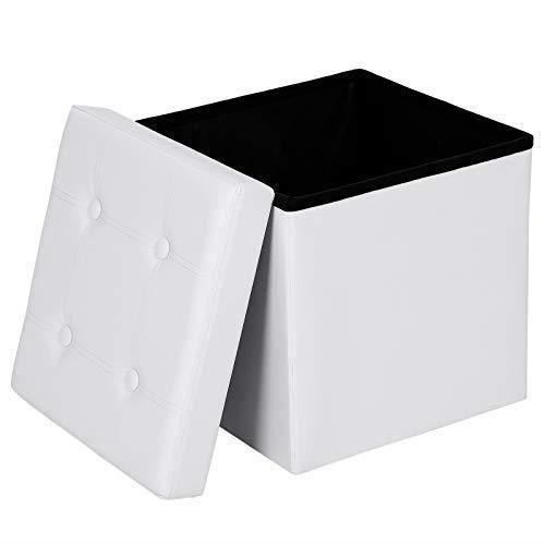 POUF - POIRE SONGMICS Coffre de Rangement Tabouret Pliable Cubi