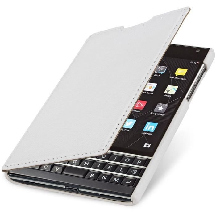 Housse blackberry passport stilgut book type achat for Housse blackberry