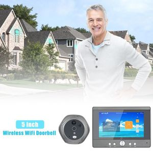 INTERPHONE - VISIOPHONE 5 pouces sans fil WiFi Sonnette numérique judas Vi
