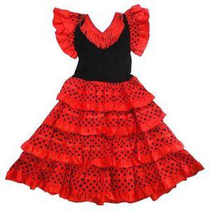 DÉGUISEMENT - PANOPLIE Robe de danse FLAMENCO fillette 10 ans rouge pois