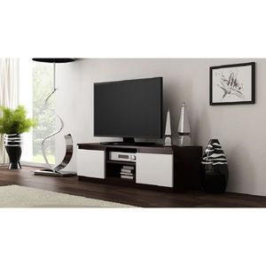 meuble tv wenge achat vente meuble tv wenge pas cher cdiscount. Black Bedroom Furniture Sets. Home Design Ideas