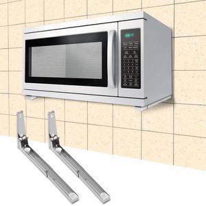 SUPPORT DE MICRO-ONDES 2pcs Support à four à micro-ondes en acier inoxyda