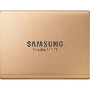 DISQUE DUR SSD EXTERNE SAMSUNG - Disque SSD Externe - T5 doré - 500 Go (M