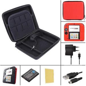 PACK ACCESSOIRE Pack Premium 6 en 1 Nintendo 2DS - Rouge - chargeu