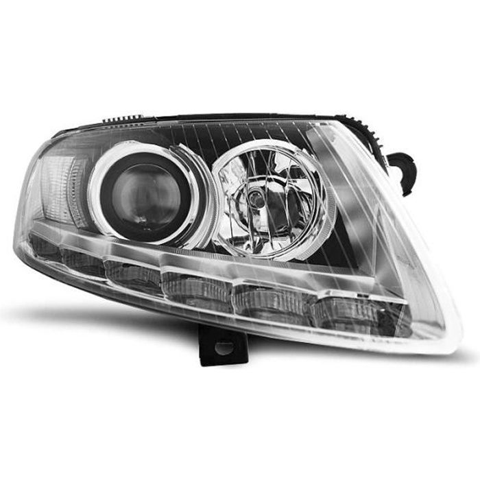 Paire de feux phares Audi A6 C6 04-08 xenon Daylight DRL led chrome (UA8)