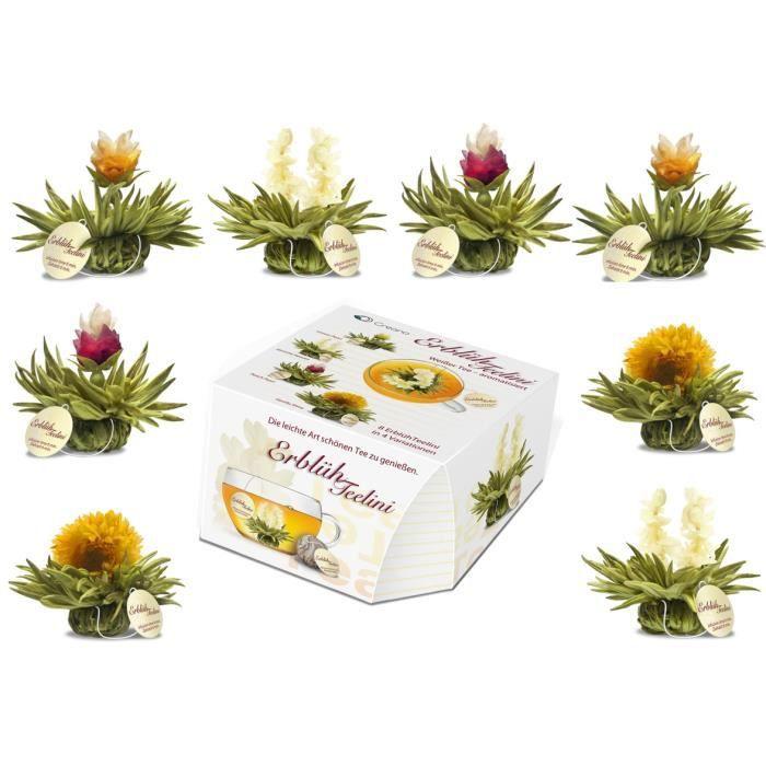 8 Fleurs de thé avec ficelle Tealini