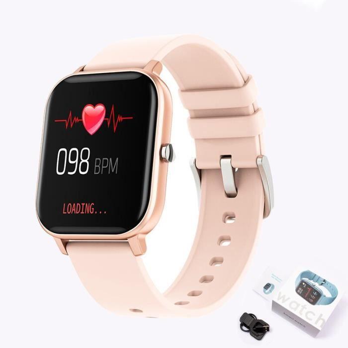 2020 nouveau Fitness tracker étanche sport pour iPhone montre intelligente femmes hommes fréquence cardiaque sommeil - Pink - WL677