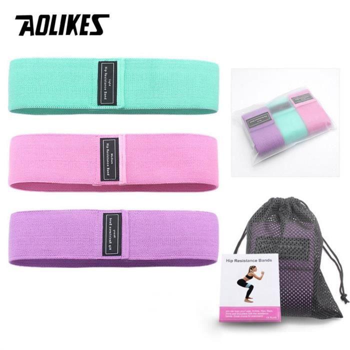 AOLIKES 3 pièces-lot bandes de caoutchouc de Fitness bandes de résistance extenseur bandes de caoutc - Universal 3PCS Set - KOBM9366