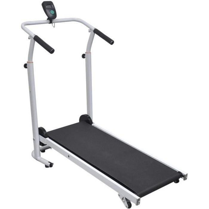 Mini Tapis de Course tapis roulant Home Fitnesspliable 93 x 36 cm Noir