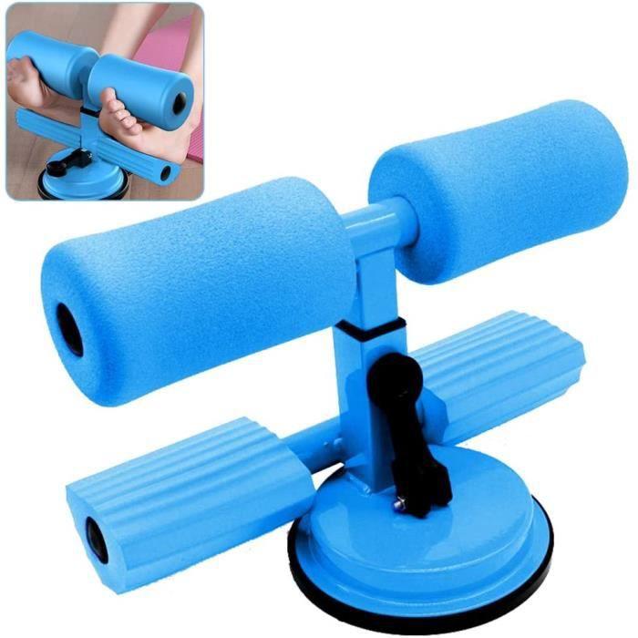 Équipement de fitness,Portable Sit-up Bar Aid-Accessoires, Sit-ups Auxiliaire Abdominale, Barre Situp Auto-Aspirante(bleu)
