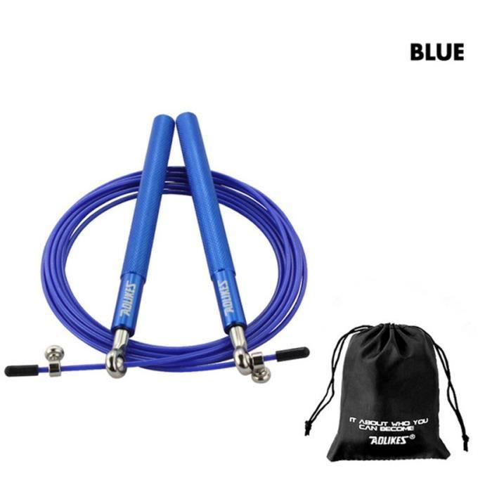 Corde à sauter professionnelle, Crossfit, corde à sauter pour MMA, boxe, Fitness, entraînement,bleue