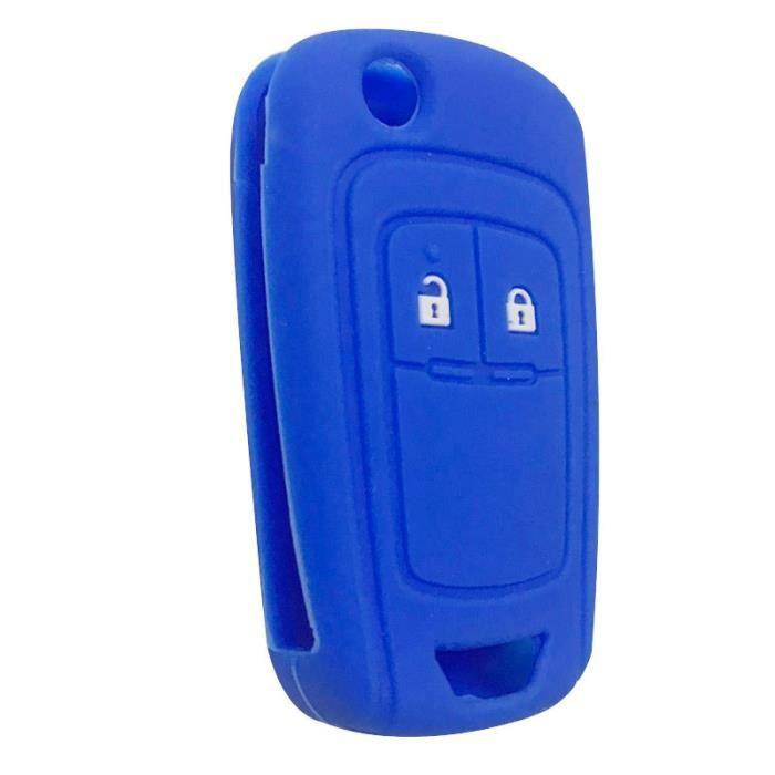 Coque clé,Clé à clé pour Opel Insignia Vauxhall En Silicone, etui à clé pour Buick Regal Lacrosse, Encore Excelle GT-XT - Type blue