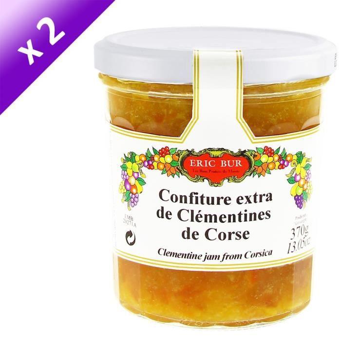 [LOT DE 2] ERIC BUR Confiture de Clémentine Corse - 360 g