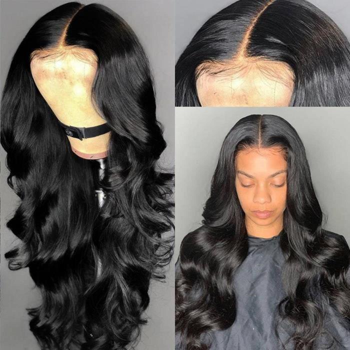 24 pouce Indien cheveux humains 360 lace perruques cheveux brésilienne en vrac vague perruques