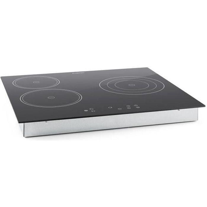 Klarstein Virtuosa - Plaque de cuisson encastrable avec 3 plaques en vitrocéramique d'une puissance totale de 5300W