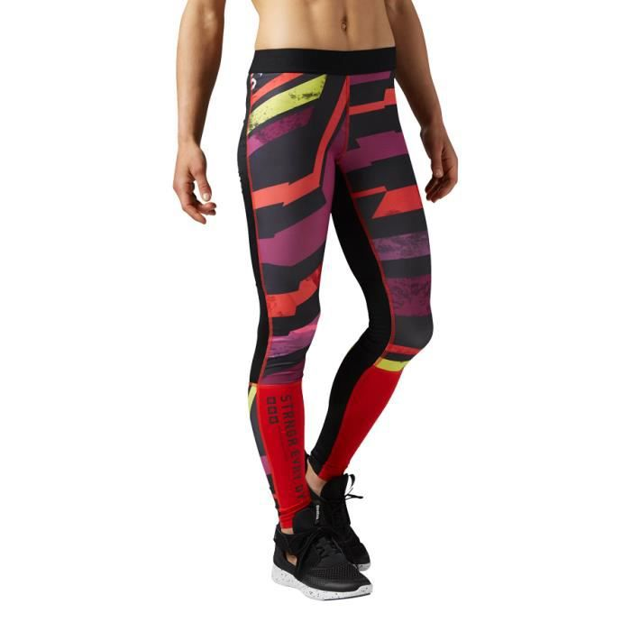 Collant long Reebok One Series Compression Tight rouge femme