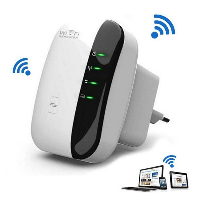 Amplificateur WiFi Repeteur Booster de signal sans fil WiFi extender 300M WLAN 802.11n-g-b