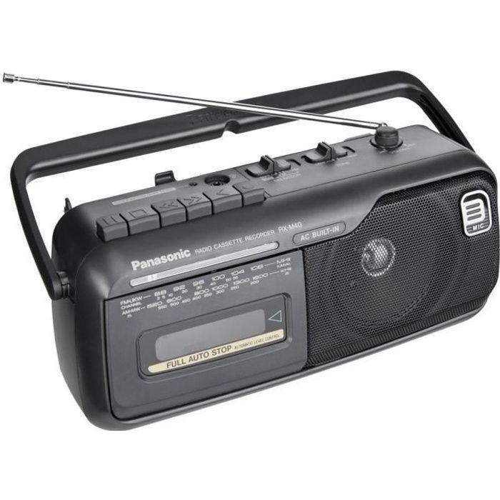 Panasonic RX-M40 Radio cassette recorder - Noir