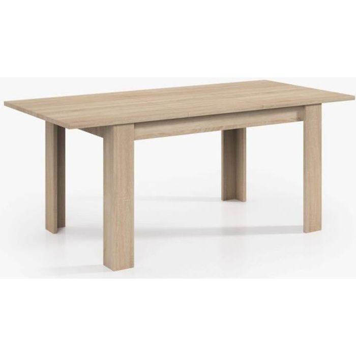 Table Extensible de salle à manger coloris chêne - Dim : H 78 x L 140-190 x P 90 cm