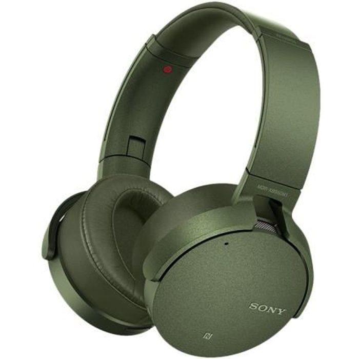 Sony MDR-XB950N1 Casque sur-oreille sans fil Bluetooth Suppresseur de bruit actif vert