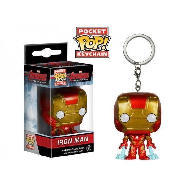 Porte Clé Marvel Avengers - Iron Man Pop 4cm Porte Clé Marvel Avengers