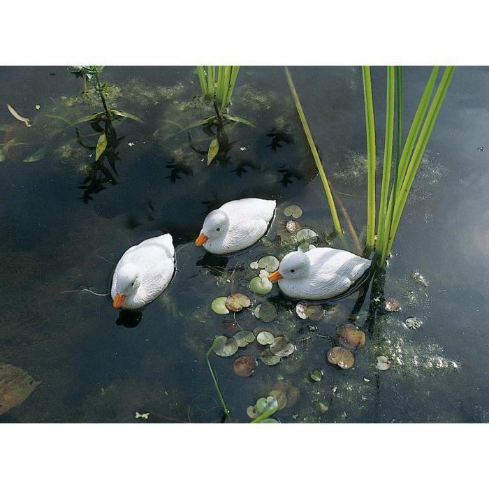 Caneton blanc décoratif de bassin à poser