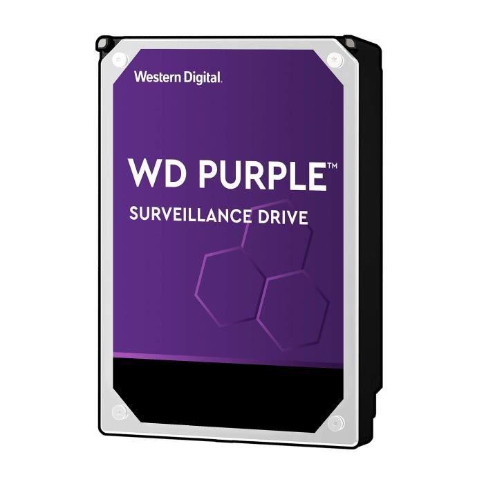 WD Purple Surveillance WD30PURZ Disque Dur Interne 3 to 3,5- SATA 6 Go-s 5400 TR-Min Mémoire Tampon 64 Mo