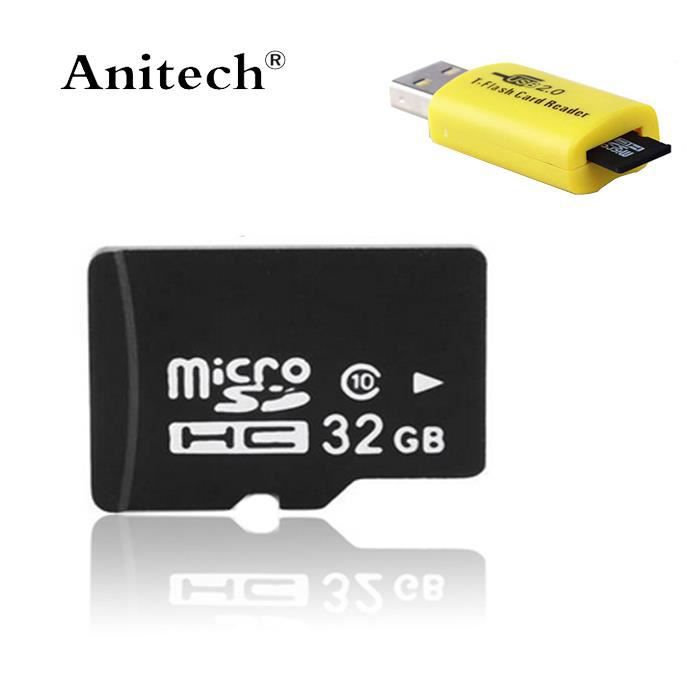carte micro sd m moire micro sdhc tf 32 g go gb 32go 32gb avec adaptateur sd lecteur de cartes. Black Bedroom Furniture Sets. Home Design Ideas