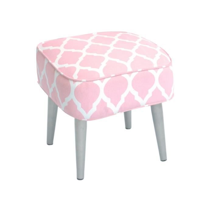 tabouret pouf style scandinave coloris rose achat vente pouf poire cdiscount. Black Bedroom Furniture Sets. Home Design Ideas