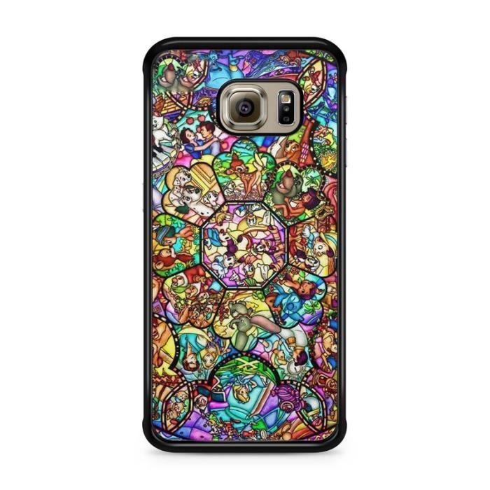 Coque Samsung Galaxy S6 Disney Mosaique swag princesse case Mickey REF10518