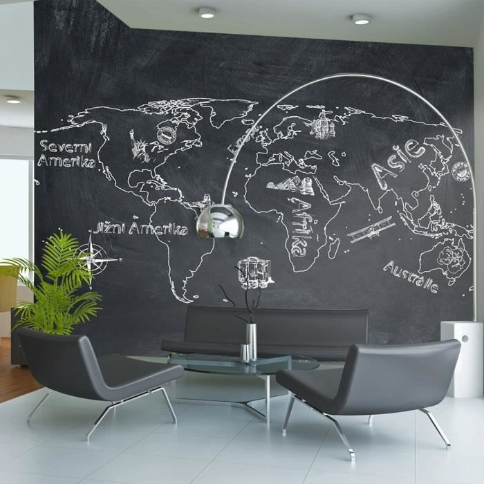 grand poster carte du monde imvt. Black Bedroom Furniture Sets. Home Design Ideas