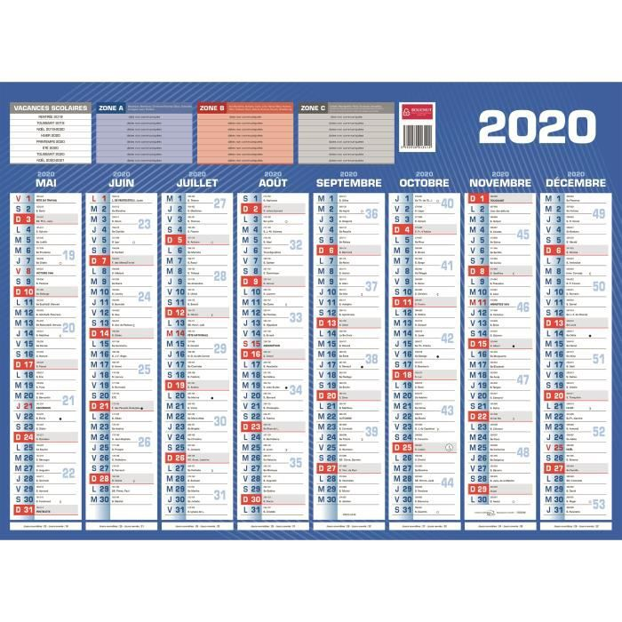 Achat Calendrier 2019.Calendrier 2019 2020 Bouchut 40 5 X 55 16 Mois Achat