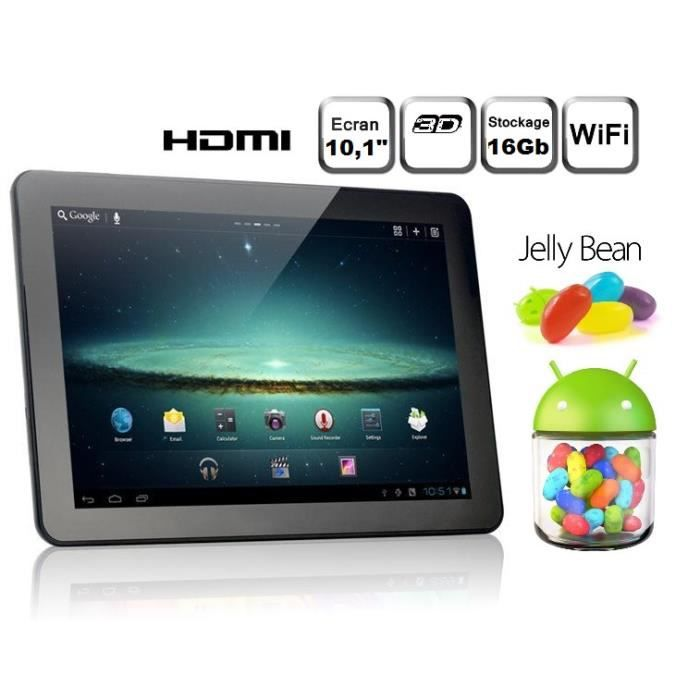 tablette tactile android 4 1 jelly bean 10 1 pouce achat. Black Bedroom Furniture Sets. Home Design Ideas