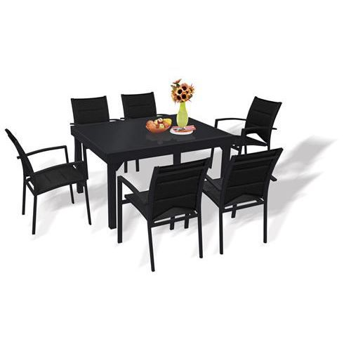 table et chaises de jardin ensemble modulo blatt achat vente salon de jardin table et. Black Bedroom Furniture Sets. Home Design Ideas