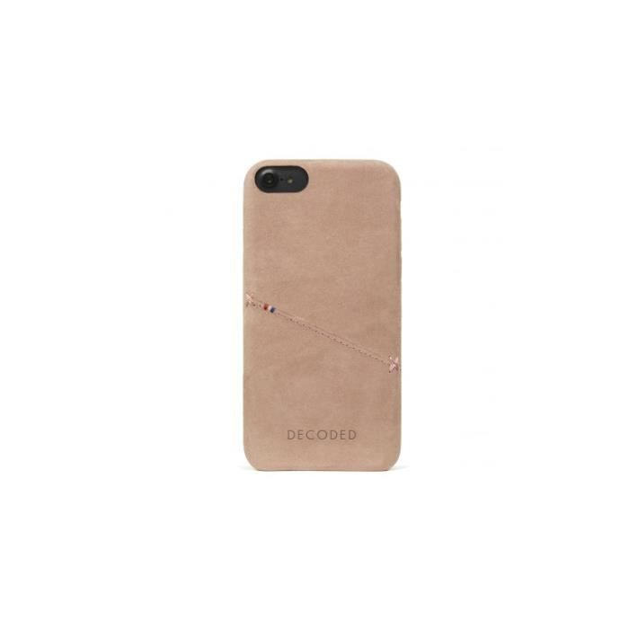 coque iphone 7 cuir beige