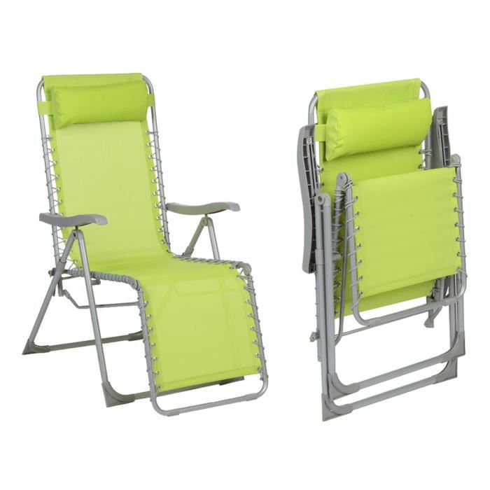fauteuil de jardin relax silos vert granny achat vente. Black Bedroom Furniture Sets. Home Design Ideas
