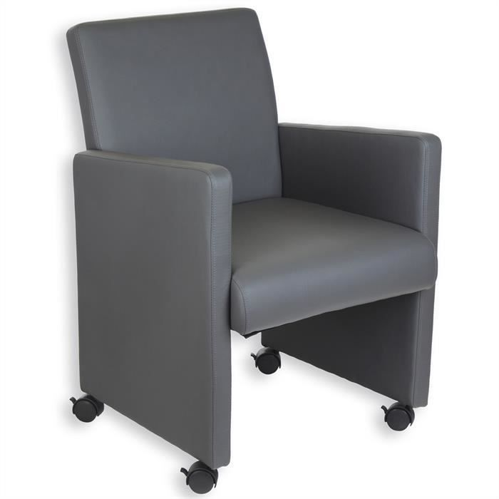 fauteuil sur roulettes antonia gris achat vente chaise de bureau gris cdiscount. Black Bedroom Furniture Sets. Home Design Ideas