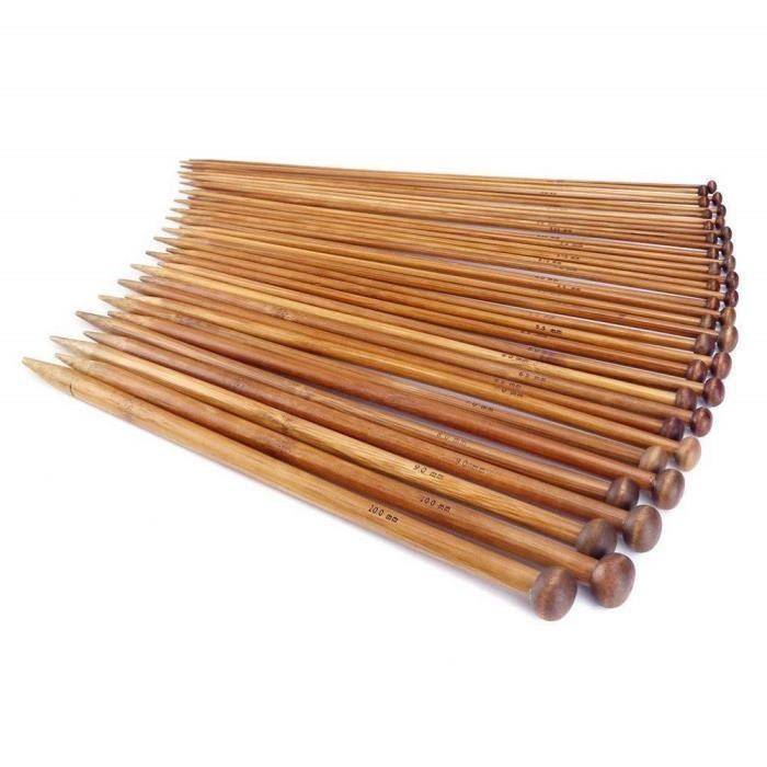 40 cm à 20cm 2-12mm Bambou Circulaire Aiguilles à tricoter choisir longueur /& taille