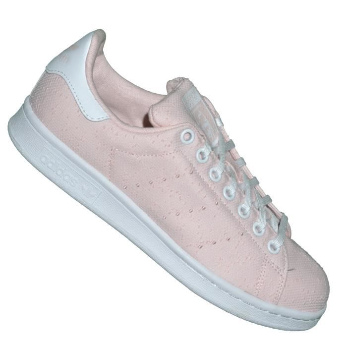 Adidas Stan Smith Blanc Et Rose Pale
