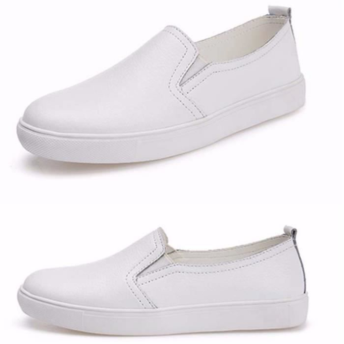 Chaussures Femmes ete Loafer Ultra Leger Chaussures BYLG-XZ052Blanc40