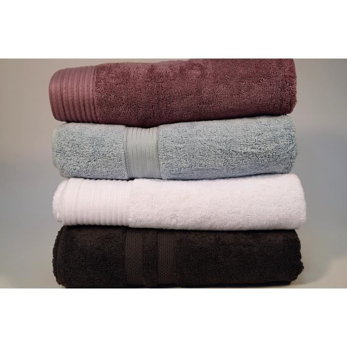 4 draps de bain luxe 100x150 cm 850gr m mix de couleurs achat vente serviettes de bain. Black Bedroom Furniture Sets. Home Design Ideas