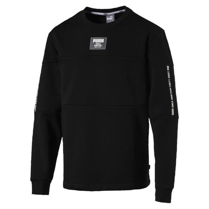 PUMA Rebel Block Crew, Sweatshirt, XXL, Athlétique, Encolure