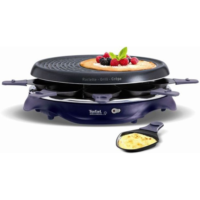 tefal re511412 appareil raclette simply invents 8 personnes violet achat vente appareil. Black Bedroom Furniture Sets. Home Design Ideas